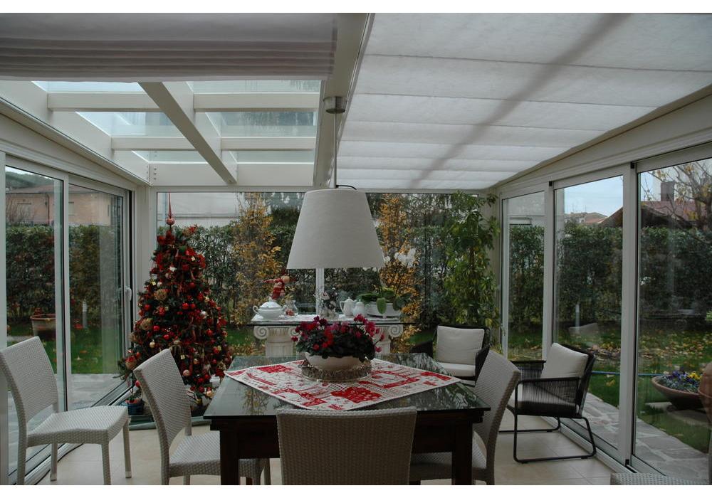 Struttura in legno moderna termica serra solare for Disegni veranda anteriore