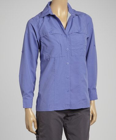 Look at this #zulilyfind! Blue Convertible Travel Shirt - Women by Guide's Choice #zulilyfinds