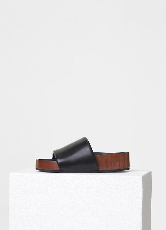 3a473c7a06d93c Boxy Padded Band Sandal with Stacked Leather Fusbet in Nappa Lambskin -  Céline