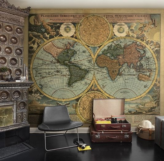 World globe map wall panel vintage style map of the world can be world globe map wall panel vintage style map of the world can be made in gumiabroncs