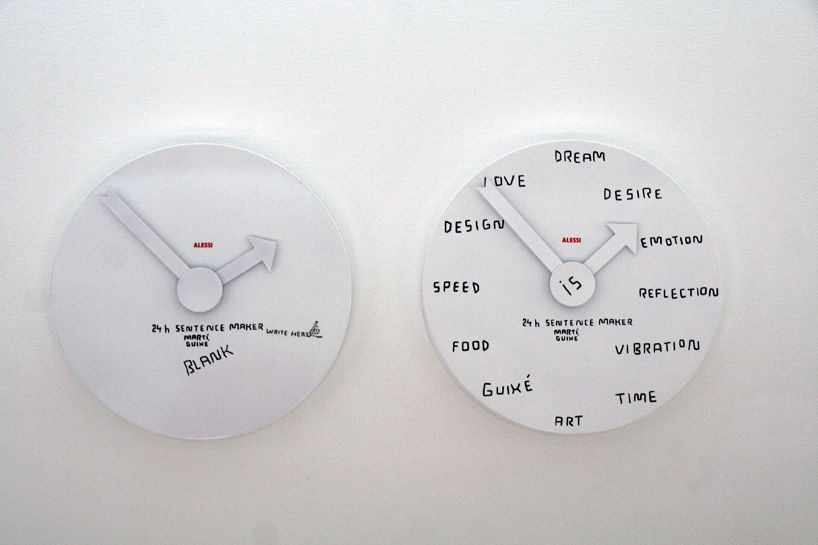 Marti Guixe Prints Food With Balsamic Vinegar In The Exhibition Guixe3 Event Experiment Essay Clock Wall Clock Prints