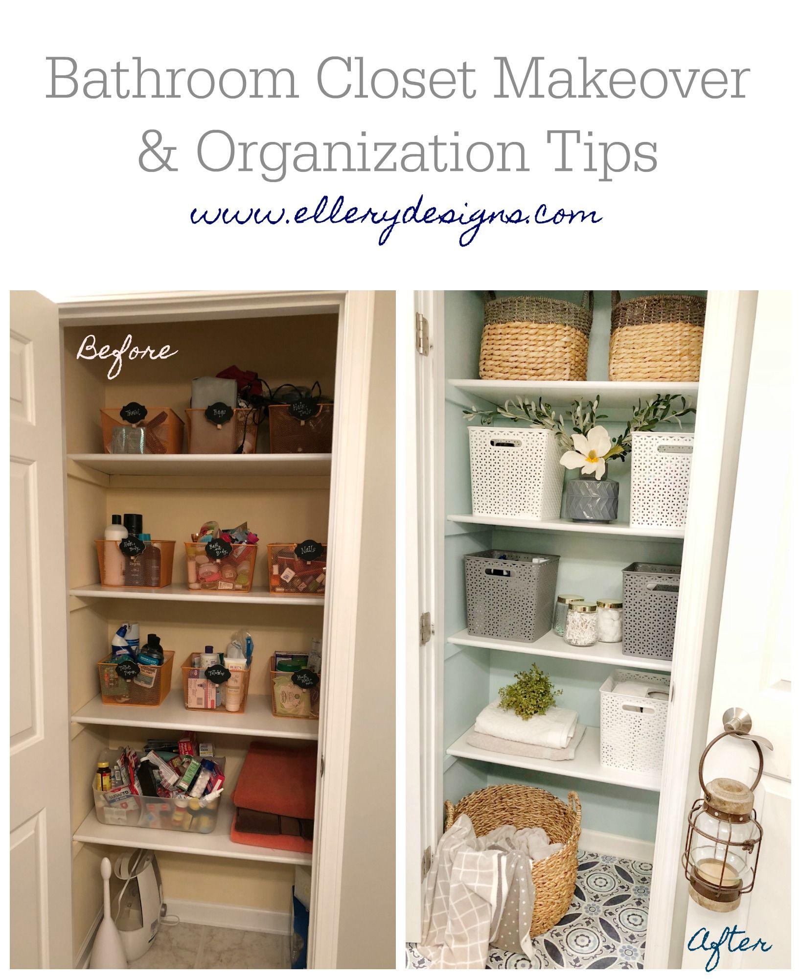 linen closet makeover & organization tips | closet makeover, linen closet makeover