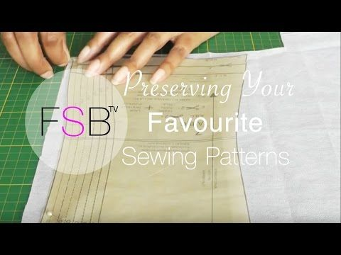 Preserving Your Sewing Patterns - YouTube | Sewing Tips & Tutorials ...