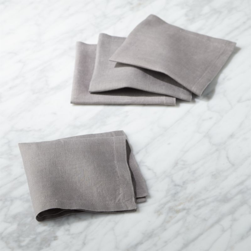 Free Shipping Shop Bolt Grey Linen Cocktail Napkins Set Of 4 100 Grey Linen Cocktail Napkin Set Keep Linen Cocktail Napkins Cloth Dinner Napkins Napkins Set