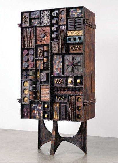 Paul Evansu0027 Sculpture Front Cabinet Up 79% At Design Auction