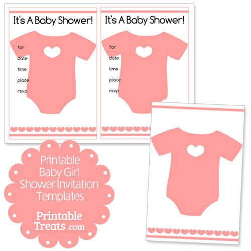 picture relating to Free Printable Baby Onesie Template titled Free of charge Printable Youngster Female Shower Invitation Templates