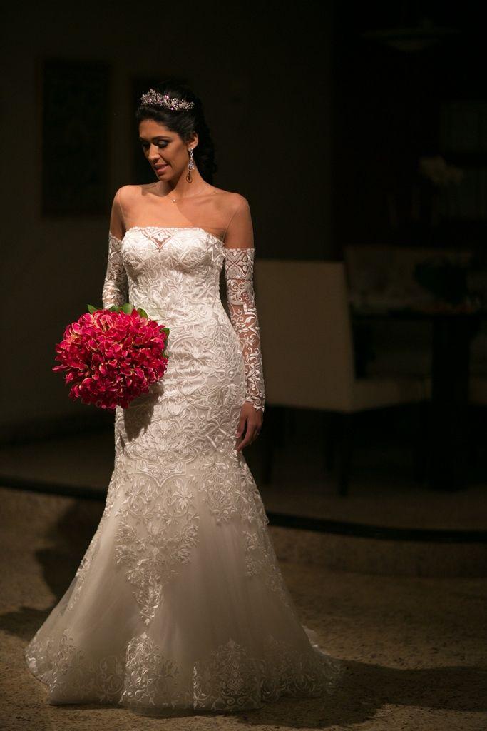 Buquê em cores quentes - Casamento moderno