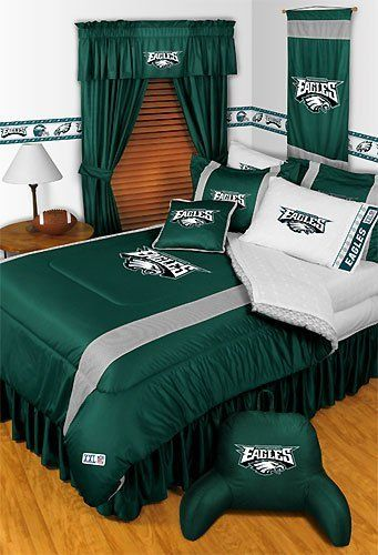Nfl Philadelphia Eagles Queen Comforter Set 3pc Bedding By 51 95 36 Two Standard Pillowcases The White Ones In Picture Each Fit 20 X 26 Inch