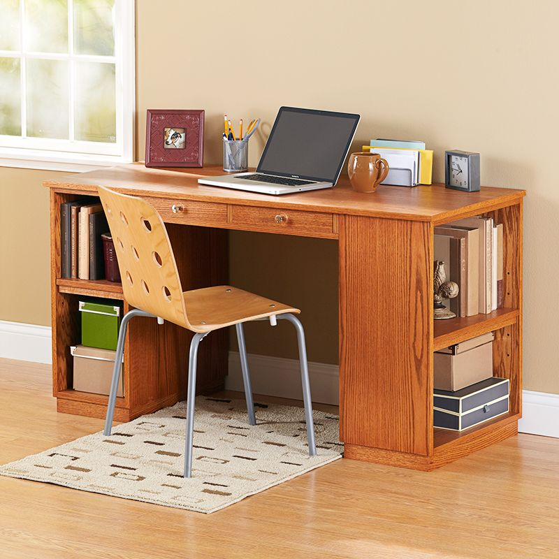 Modern Furniture Woodworking Plans build-to-suit study desk. two base arrangements with the same