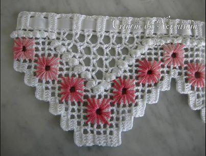 Barrados De Croche Com Graficos De Borboletas Pesquisa Google