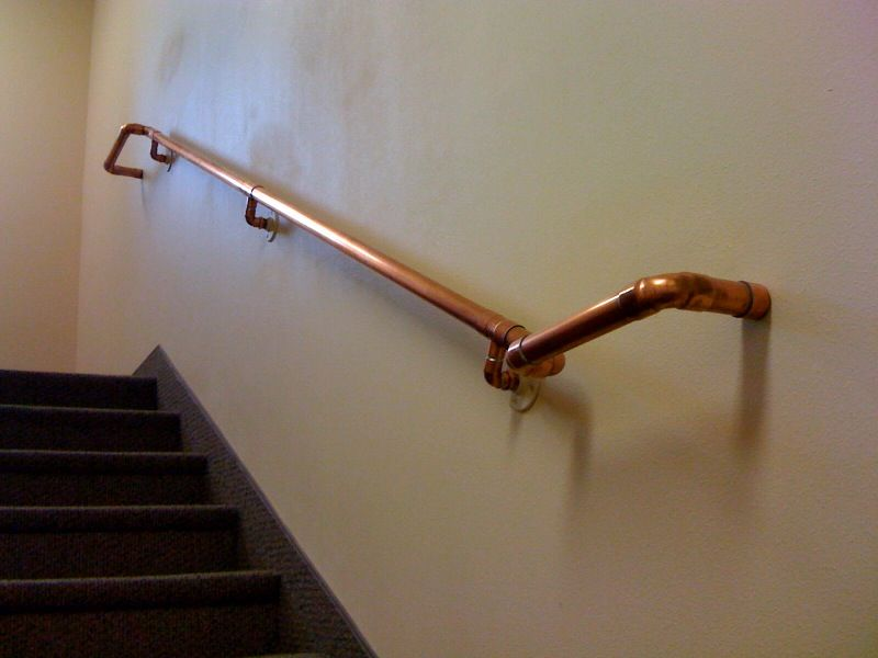 Best Copper Tubing For Stair Hand Rails Great Room 640 x 480
