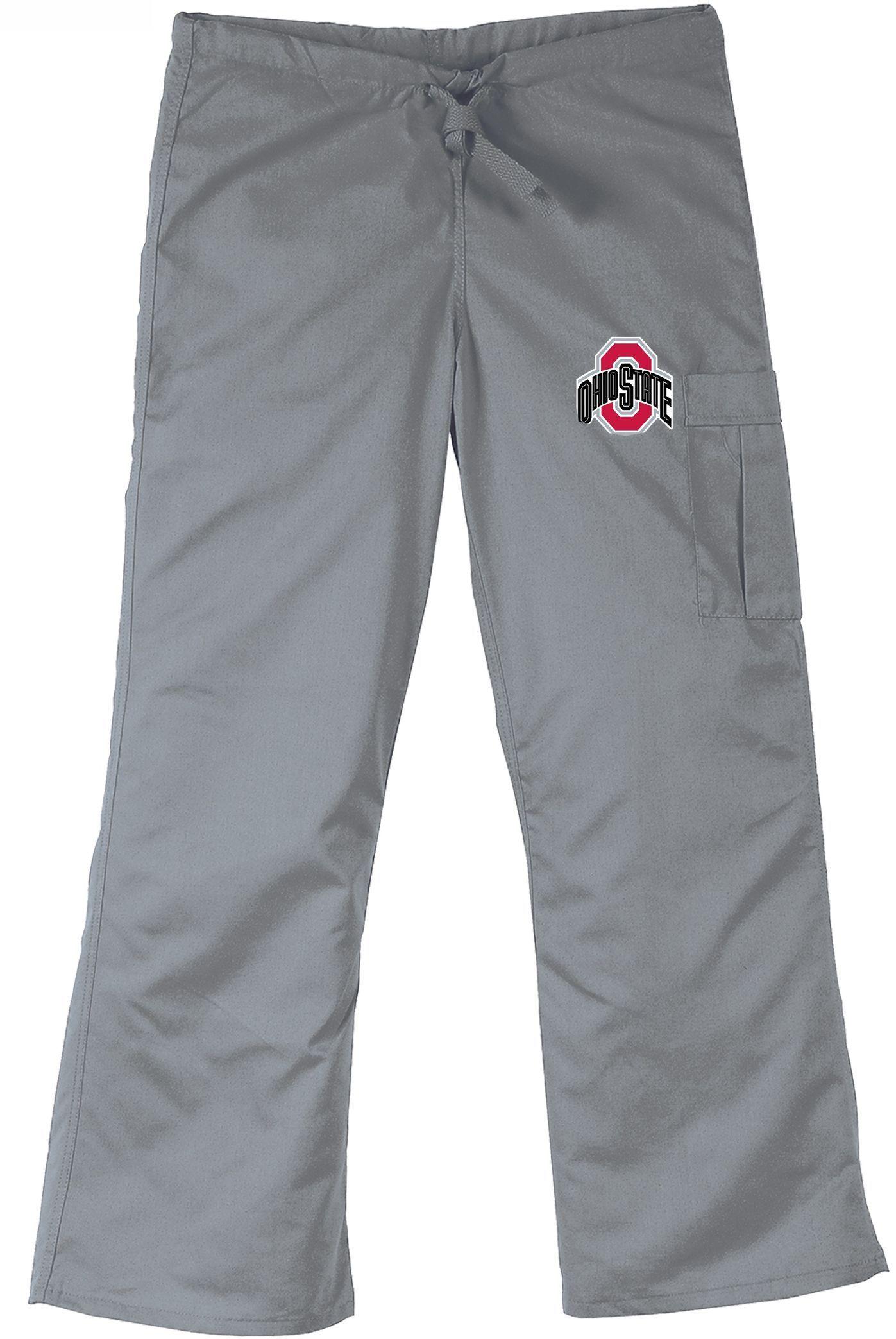 ohio state buckeyes black cargo scrub pants ohio state scrubs ohio state buckeyes gray cargo scrub pants