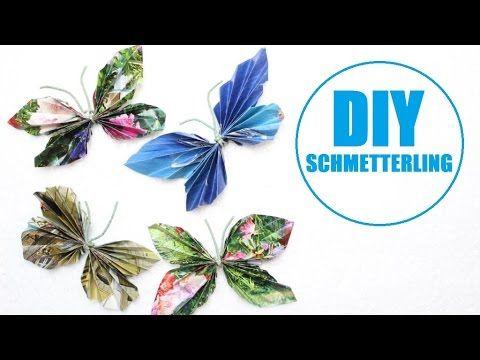 Schmetterlinge Basteln Mit Papier Tiere Basteln Mit Kindern