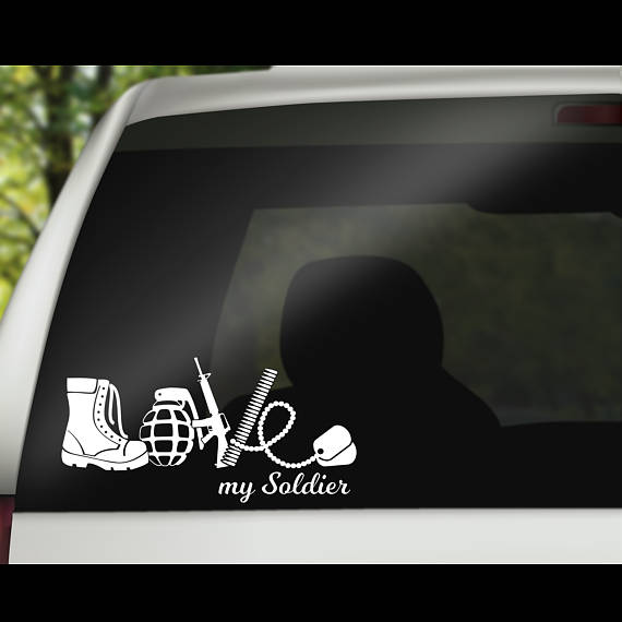 Army love car decal is a great decal that will allow you to show support for