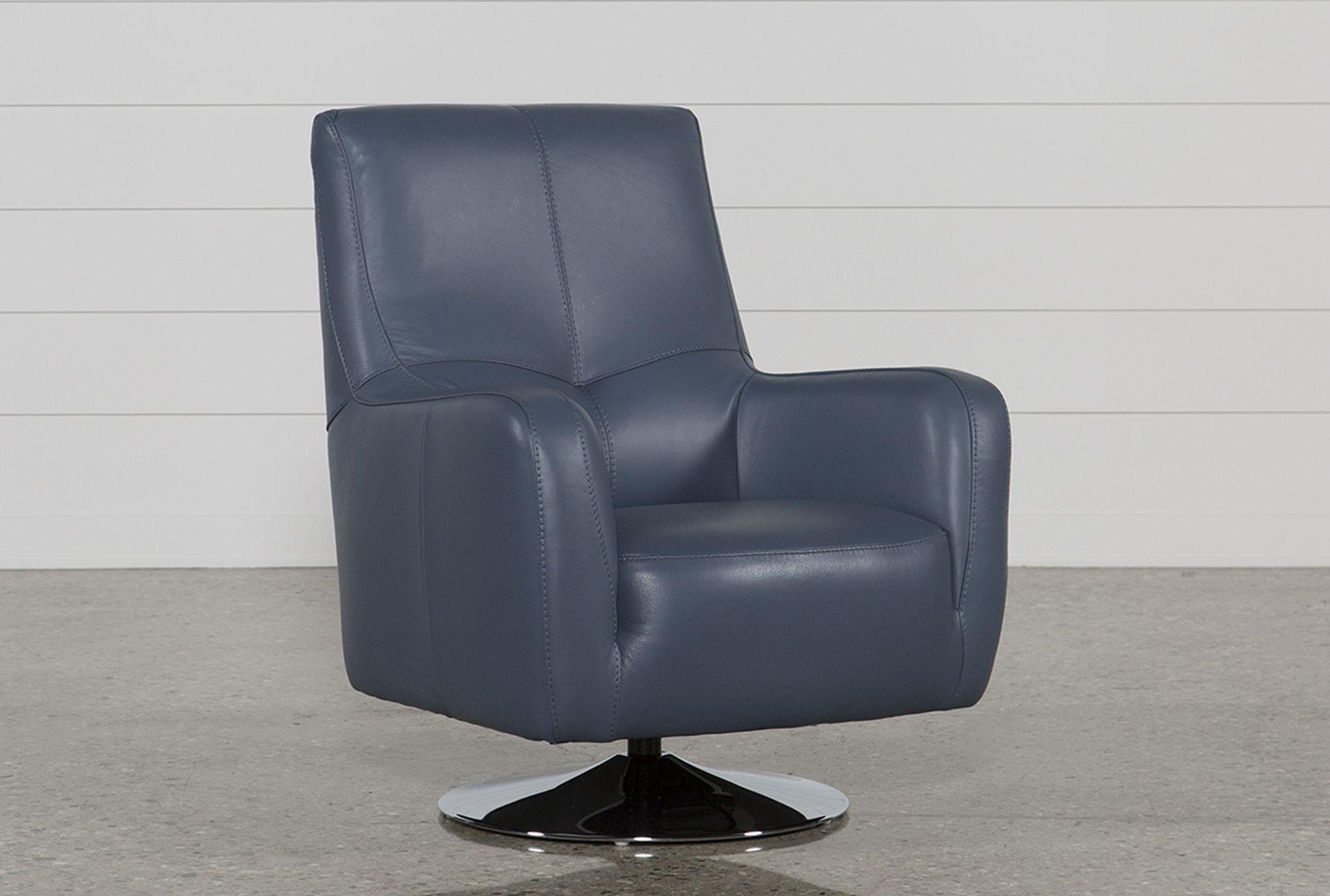 Best Kawai Swivel Chair Blue Leather Swivel Chair White 400 x 300