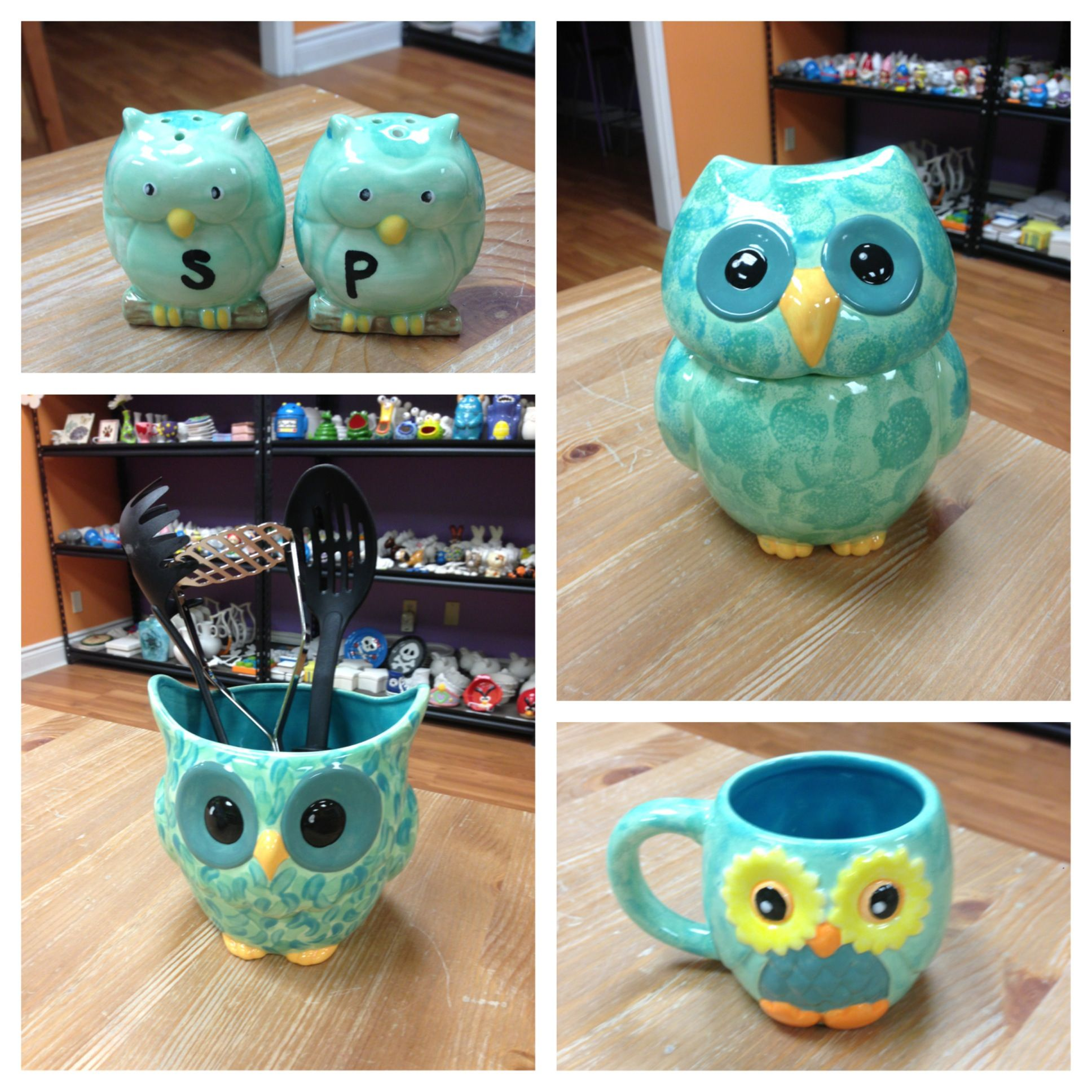 Owl Kitchen Items So Cute Love The Colors And Of Course Owls Owl Kitchen Decor Owl Kitchen Owl Decor