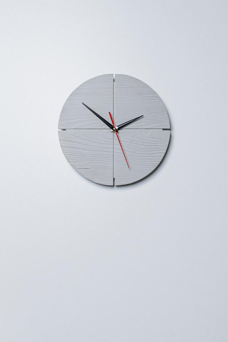 Modern Concrete Wall Clock Concrete Home Decor Industrial Etsy In 2020 Industrial Clock Wall Concrete Wall Wall Clock Modern