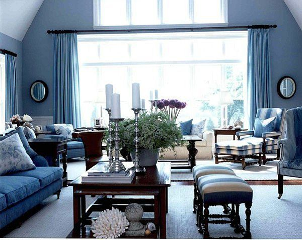 blue living room - Blue Living Room Color Schemes