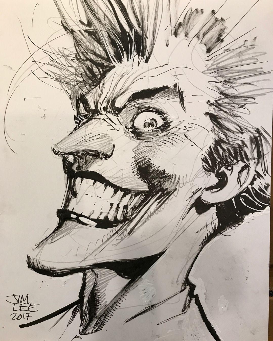 The Joker By Jim Lee Joker Art Drawing Batman Art Drawing Joker Artwork