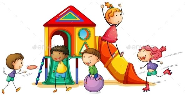 Playhouse Kids Playing Play Houses Children