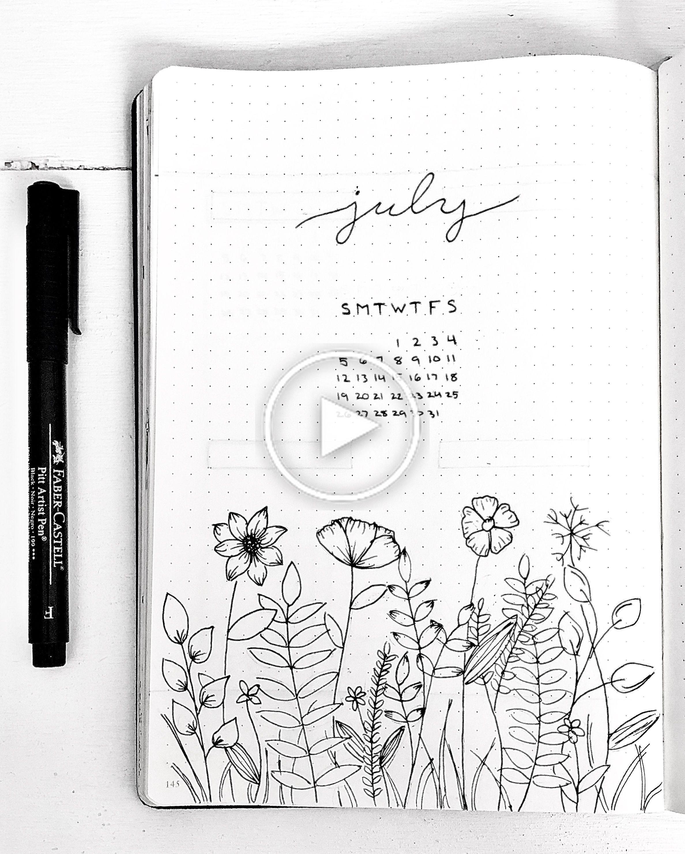 Flower bullet journal