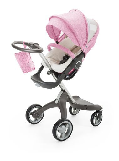 Stokke® Xplory® with Stokke® Stroller Seat and Peony Pink Summer Kit ... 39cecd3f97