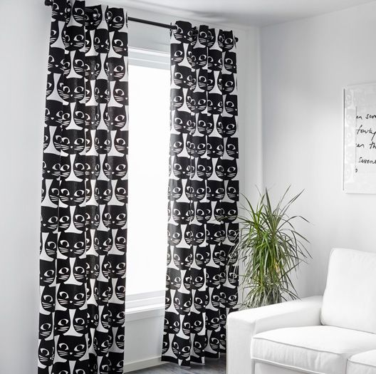 mattram retro cat curtains and cushions at ikea - Cat Curtains