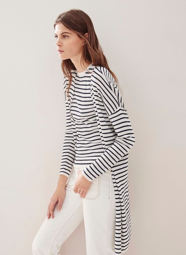 32edc694fa4c ... diseños únicos en Adolfo Dominguez online. Lo último en Moda Mujer y  Hombre, y los lookbook de temporada. Descubre el lujo asequible. Twin-Set  de rayas ...