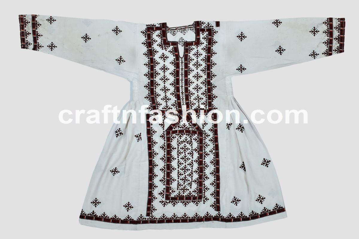 0870cd20744 Hand Embroidery Balochi Kuchi Frock Dress - Vintage Bohemian Embroidered Top  - Banjara Bohemian Tribal Gypsy