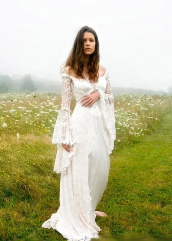 178053c381 The Serendipity :: All Lace Bell Sleeve Cross String Back Boho ...