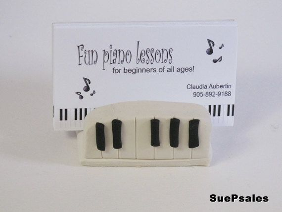 Business Card Holder for Piano Teacher Music Teachers by SuePsales - piano teacher resume