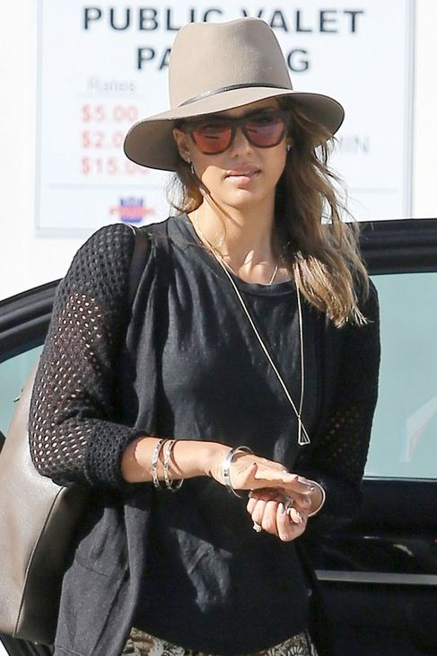 ec93532ce1b Now at Bloom...Janessa Leone Lola Hat in Camel shown on Jessica Alba ...