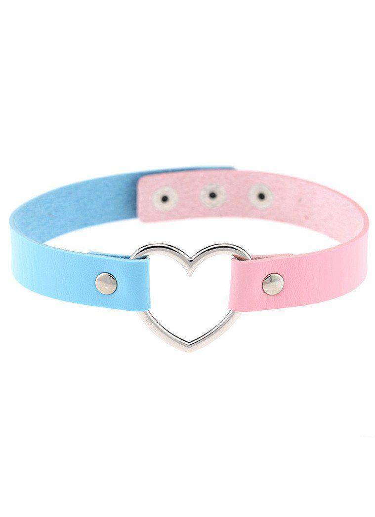 4ed47b265b348 Heart pastel collar, necklace, pink & purple, gothic | Tiny ...