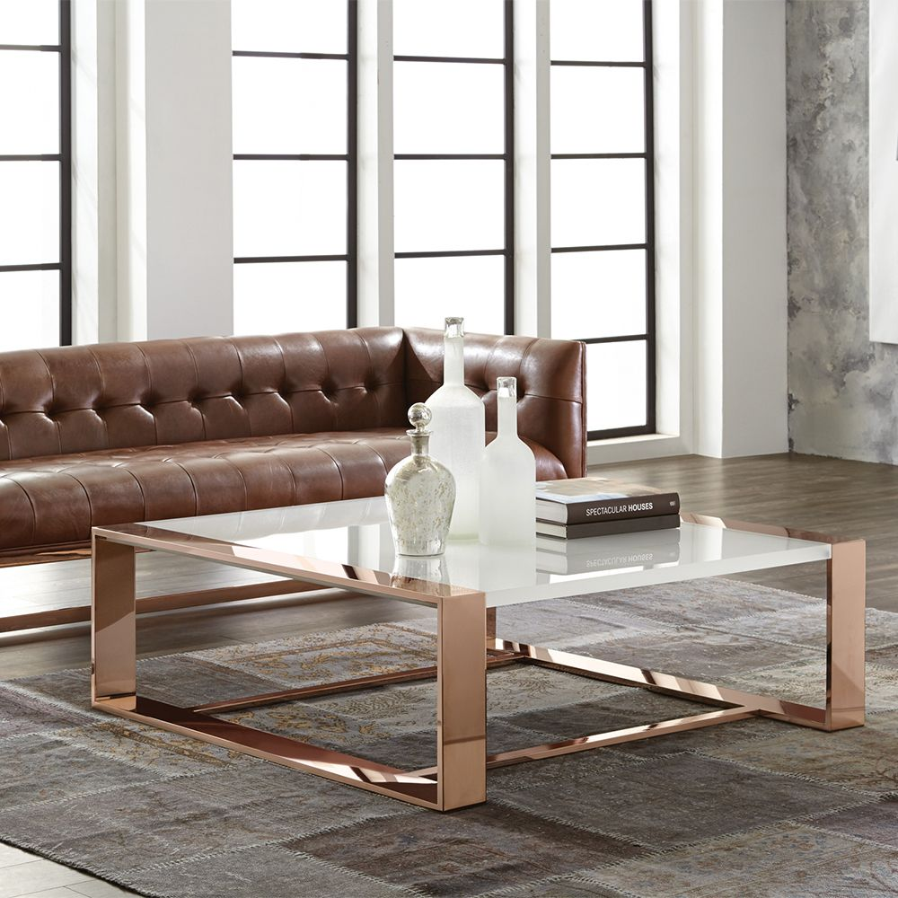 Hold it contemporary home copper coffee table