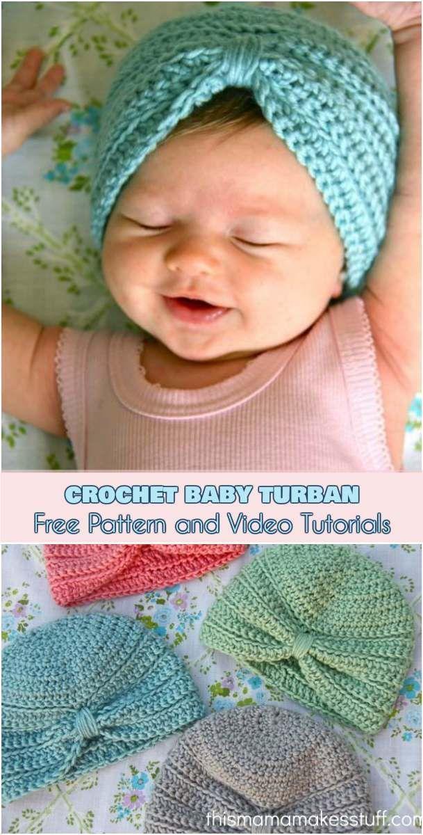 Photo of Häkeln Sie Baby Turban [Free Pattern and Video Tutorials] – Baby Diy – Stricken…