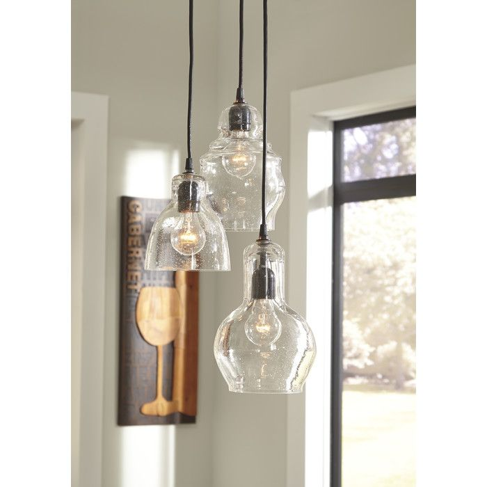 Auguste 3 light kitchen island pendant