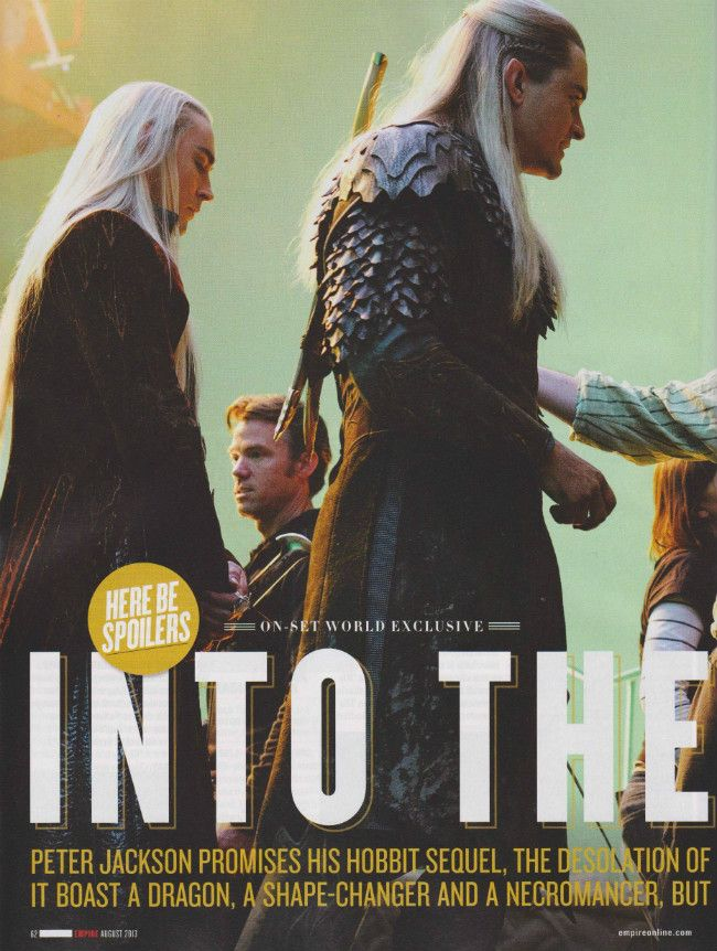 Another pic of Thranduil and Legolas. Can't wait to see this father-son duo in the Desolation of Smaug!!