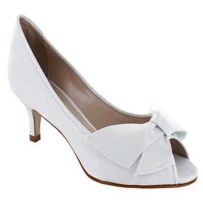 3c814ea05 Charmosa Peep Toe baixa para noiva - Belle Mariée - MR1143