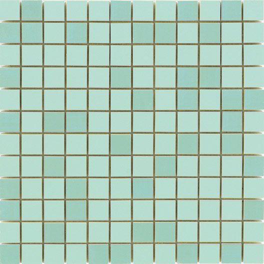 Mosaïque mur Loft vert d\u0027eau 2 x 2 cm salle de bains Pinterest
