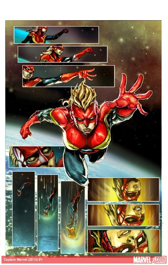 Check out the preview art of Captain Marvel (2012) #1 by Dexter Soy!