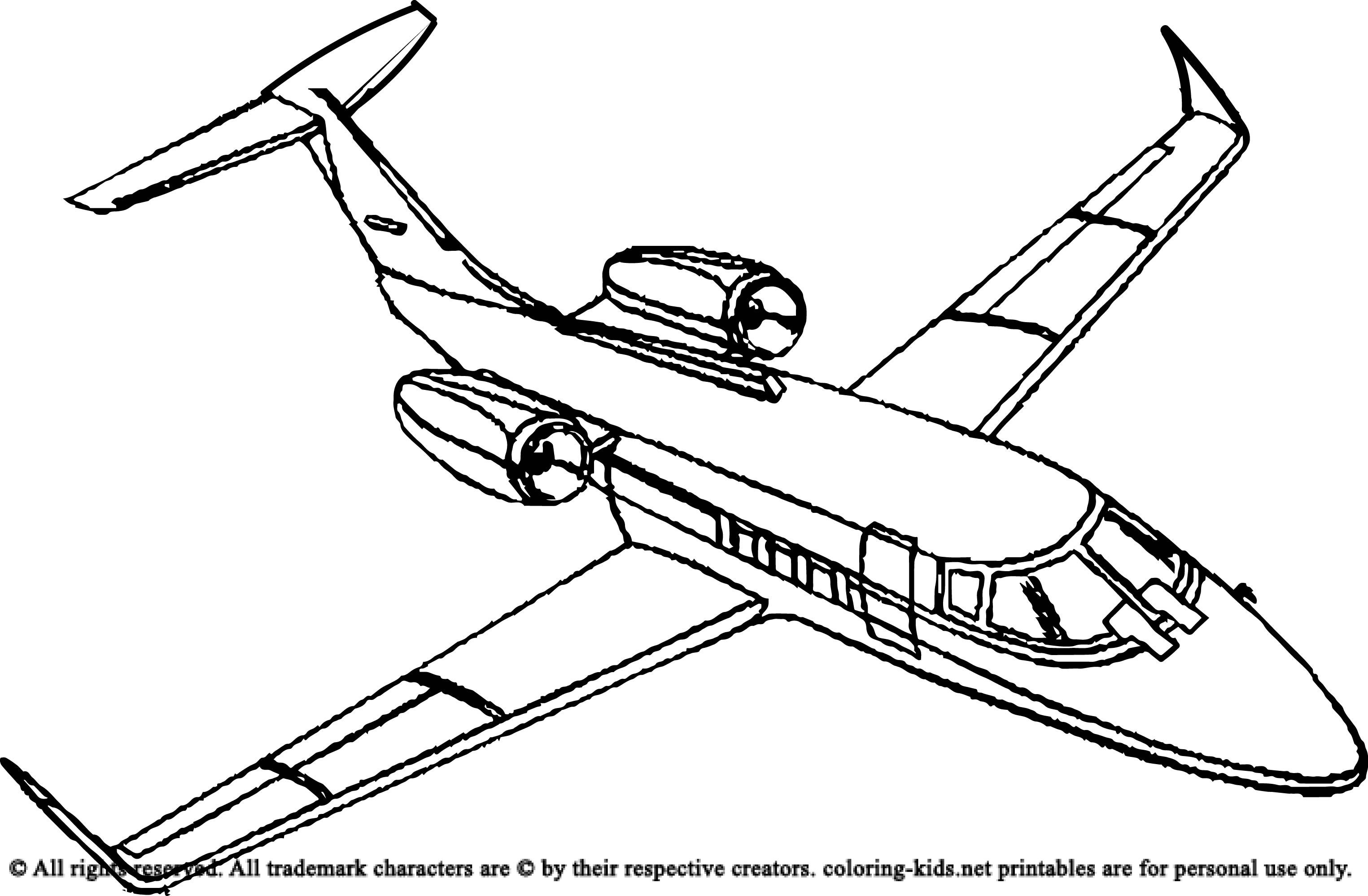 southwest airplane coloring pages - photo#14