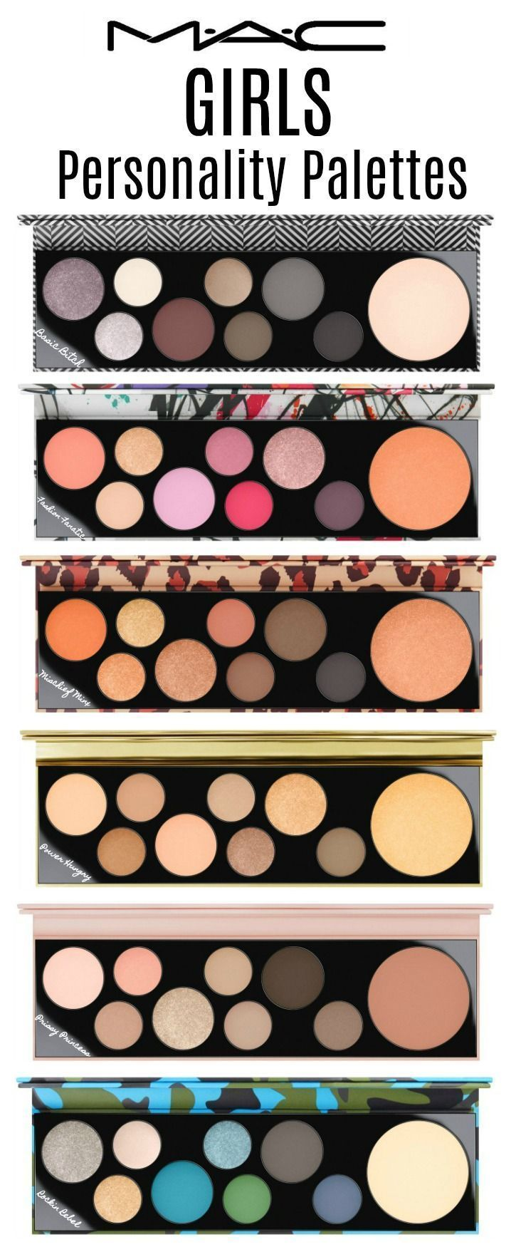 MACGirls Collection personality palettes Mac makeup
