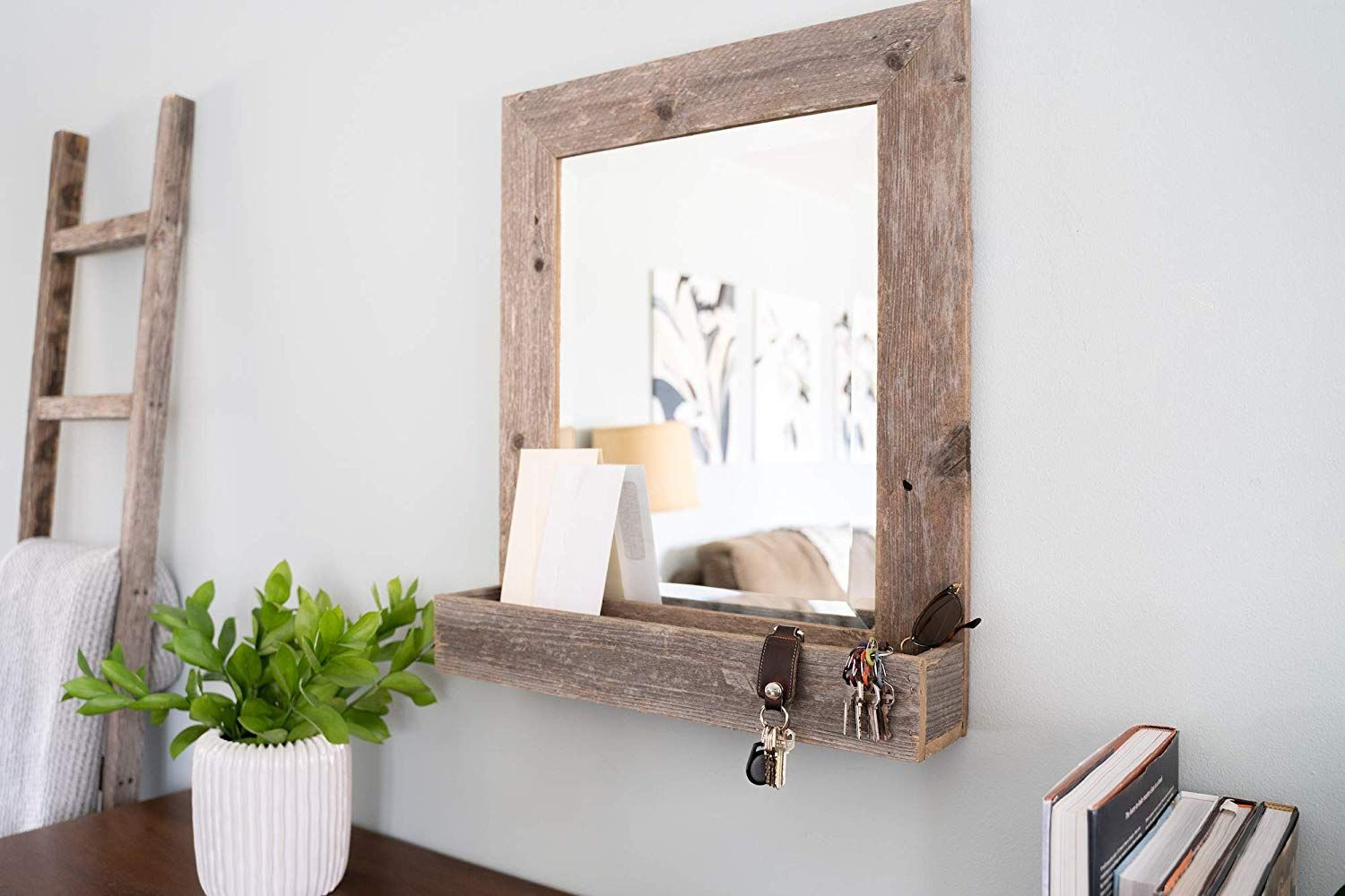 Reclaimed, antiquelooking wood is the new trend. The