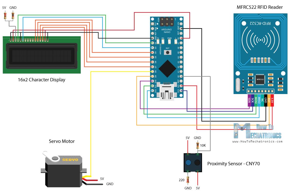 Arduino Rfid Door Lock Access Control Project Pinterest Water Level Indicator Circuit Gadgetronicx