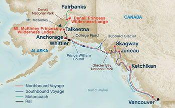 Map - Princess Cruise Alaska did this!!!! | princess Cruises ...