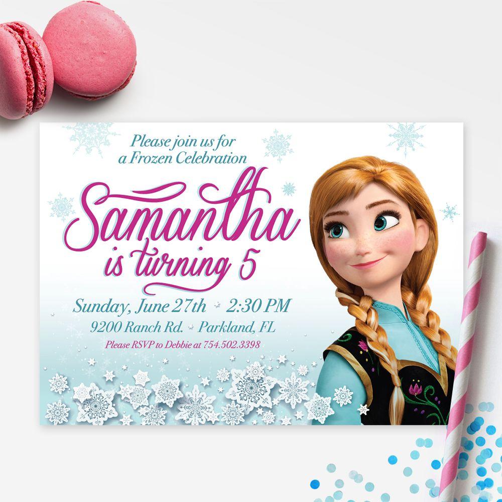 Frozen Printable Birthday Invitation | DIY Birthday Party Printables ...