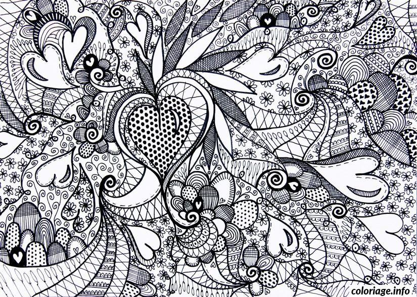 Coloriage saint valentin coeur adulte difficile dessin imprimer id es faire pinterest - Coloriage adulte en ligne ...