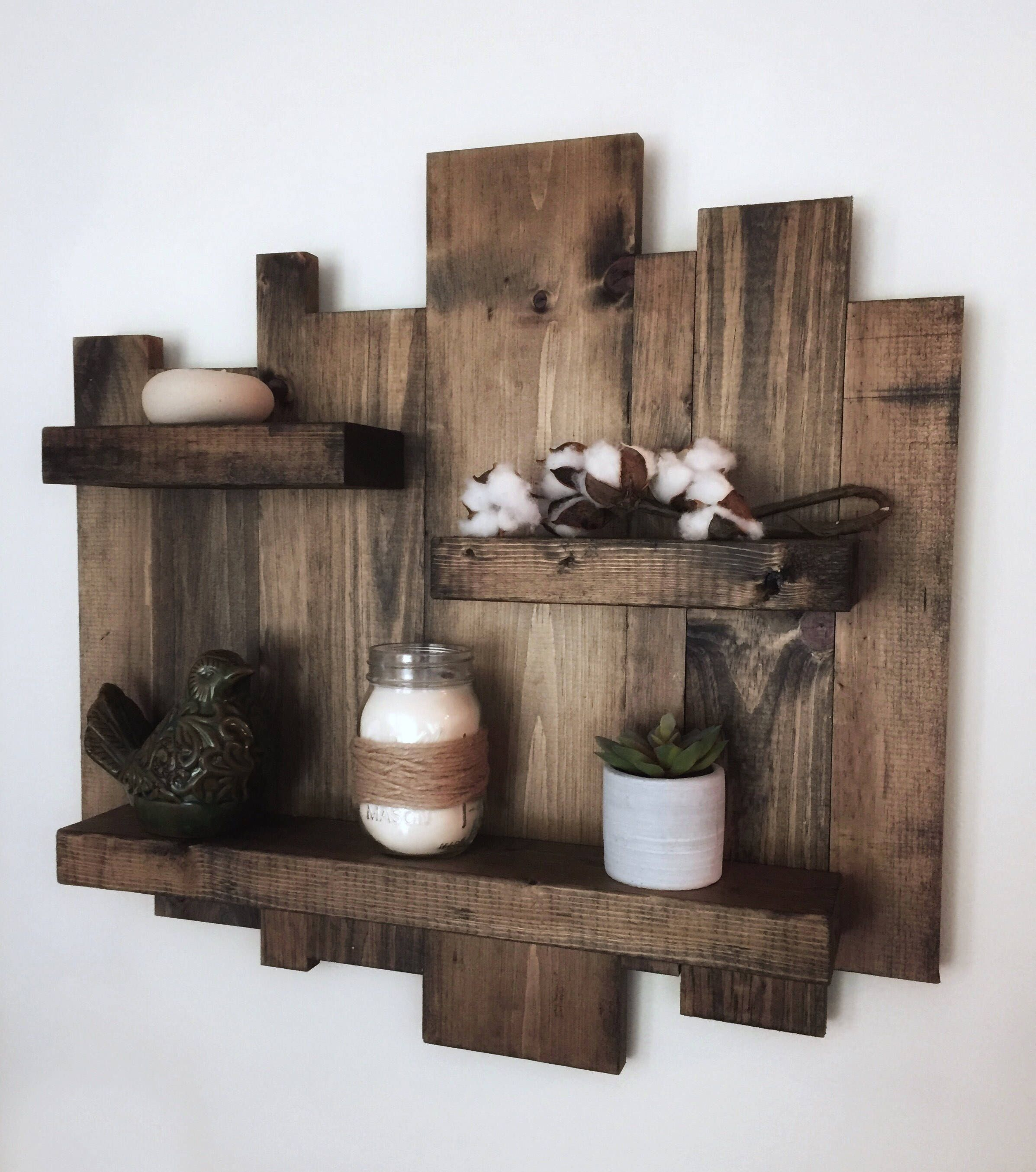 shelf beam shop wood rustic bottle wall reclaimed