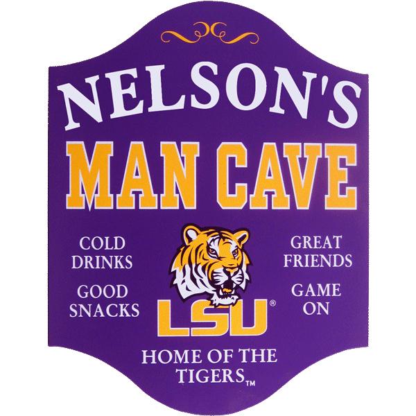 LSU man cave sign