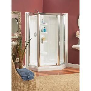 ASB 42 in. x 42 in. x 72 in. Standard Fit Corner Shower Kit-403400 ...